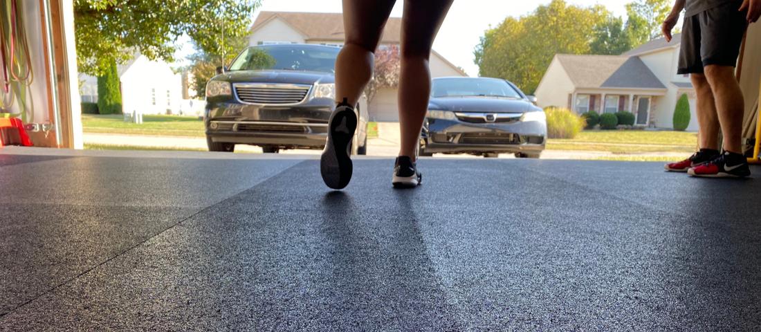 girl running backwards