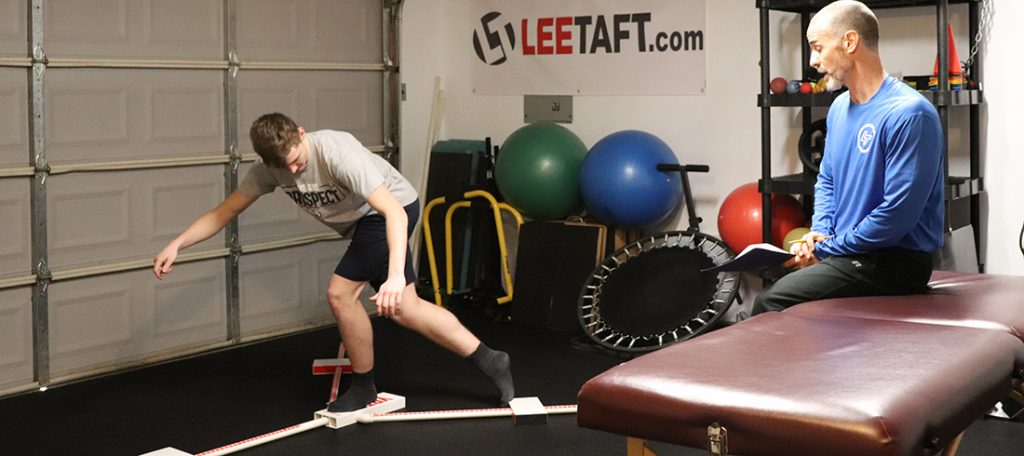 athlete being assessed for movement